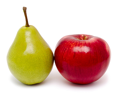 apple and pear